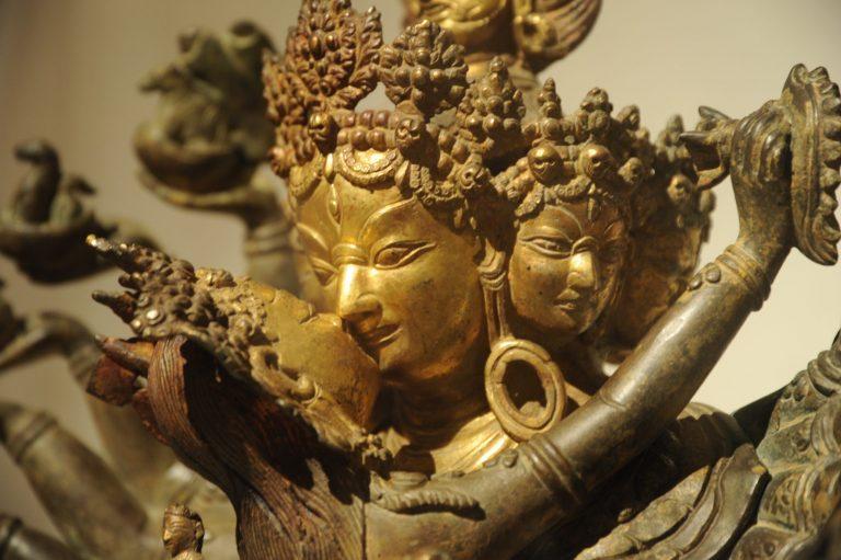 Gold statue representing sacred sex