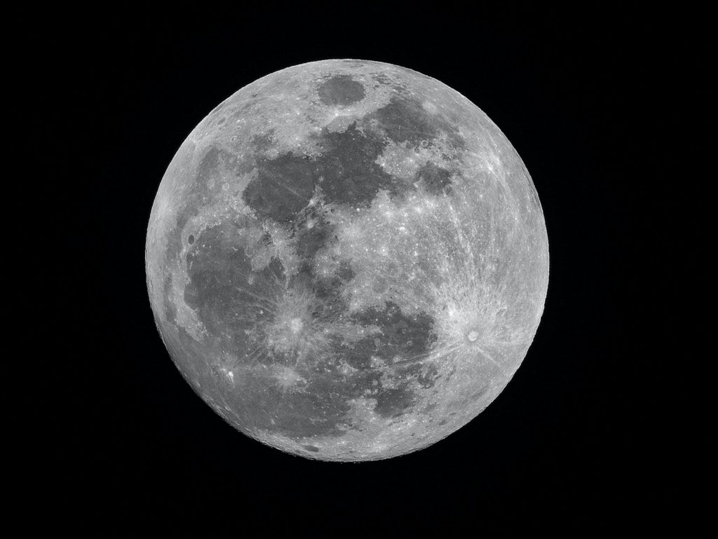 Photo of full moon at night to represent Women's Moon Circle.